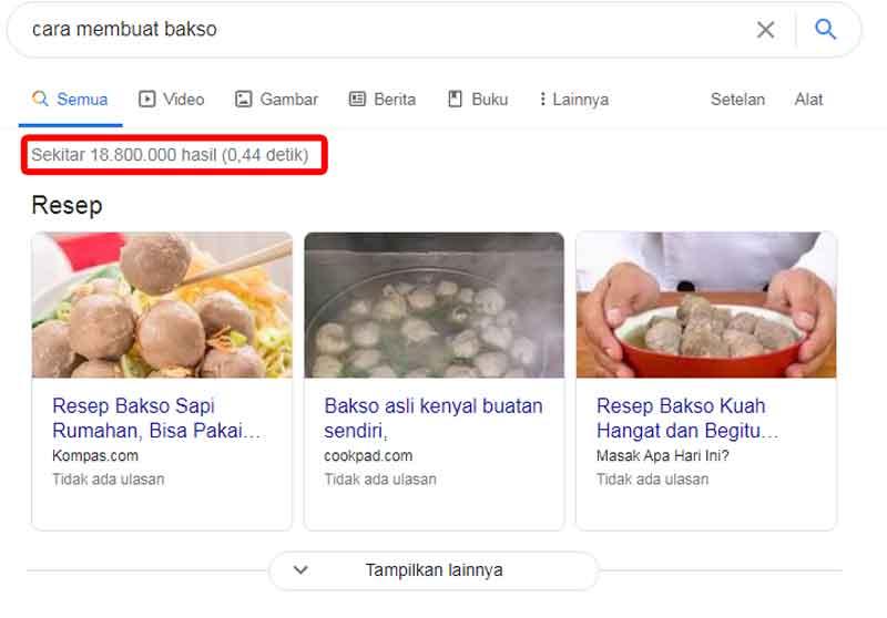Hasil Penelusuran Google