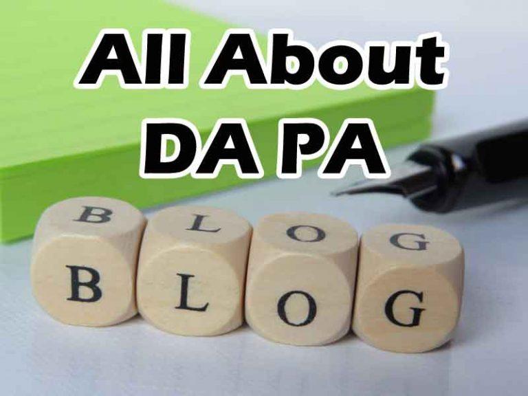 DA PA Blog