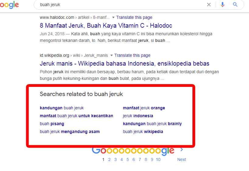 Related Search Ide Kata Kunci