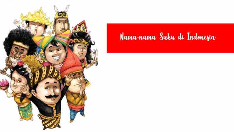Nama Suku di Indonesia