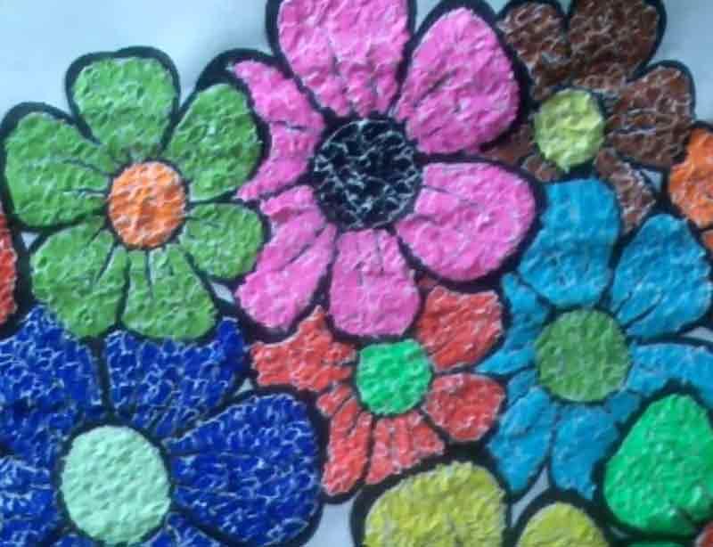 Contoh gambar kolase - perbedaan kolase montase dan mozaik