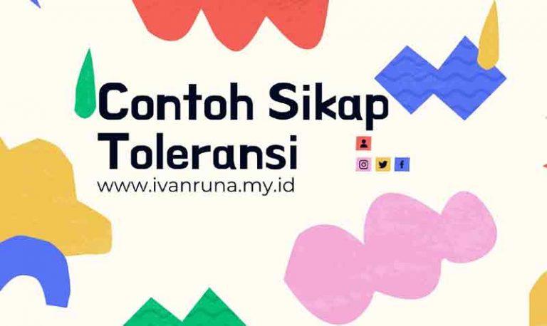 Contoh sikap toleransi
